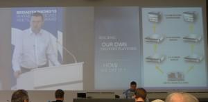 Martin Boronski presenting M6's CDN infrastructure