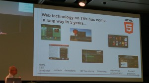 Frode Hernes presenting The Evolution of Web Technologies for Interactive TV