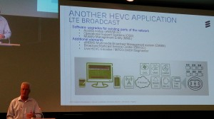 David Price presenting HEVC used for LTE Broadcast
